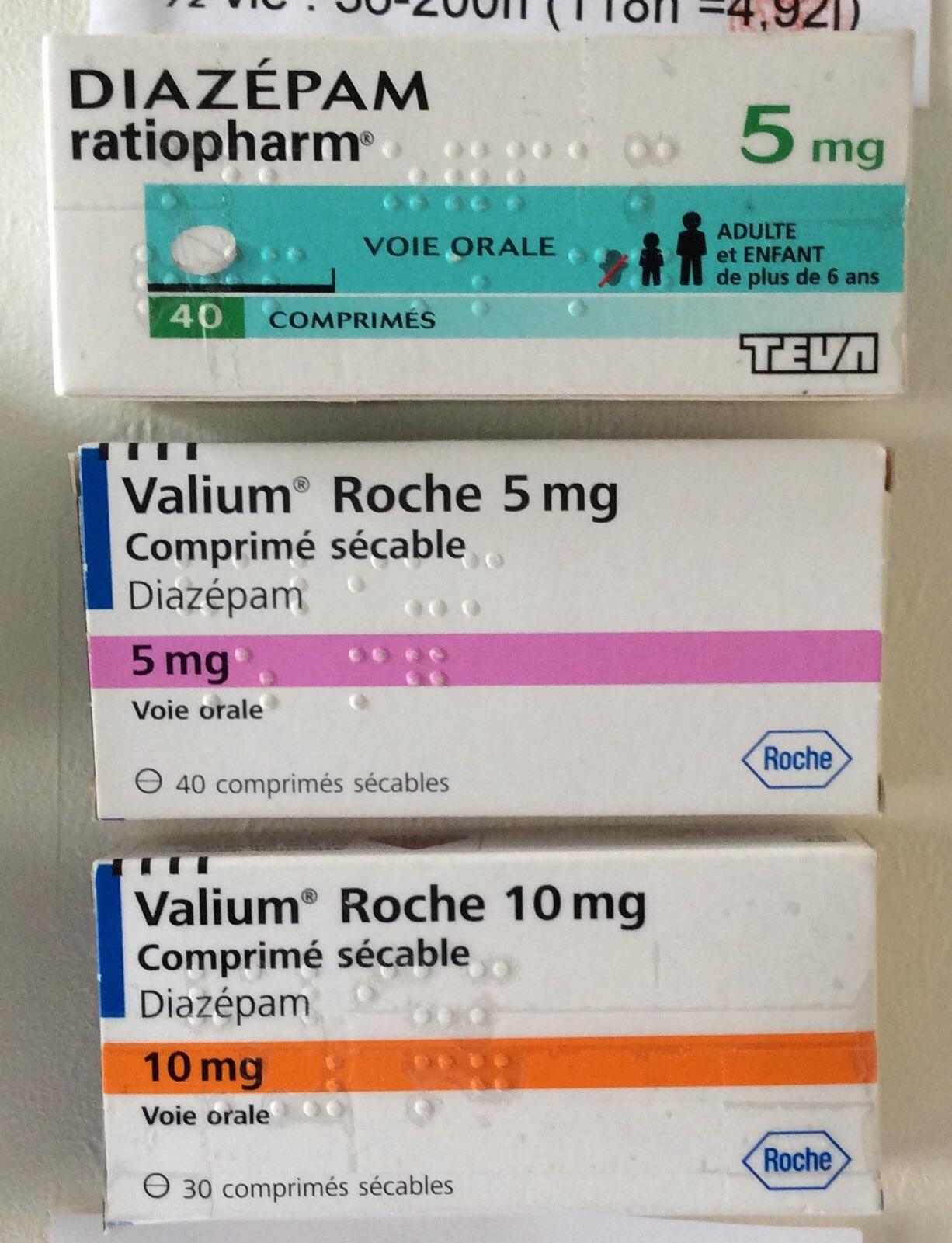 who should use valium overdose quantity