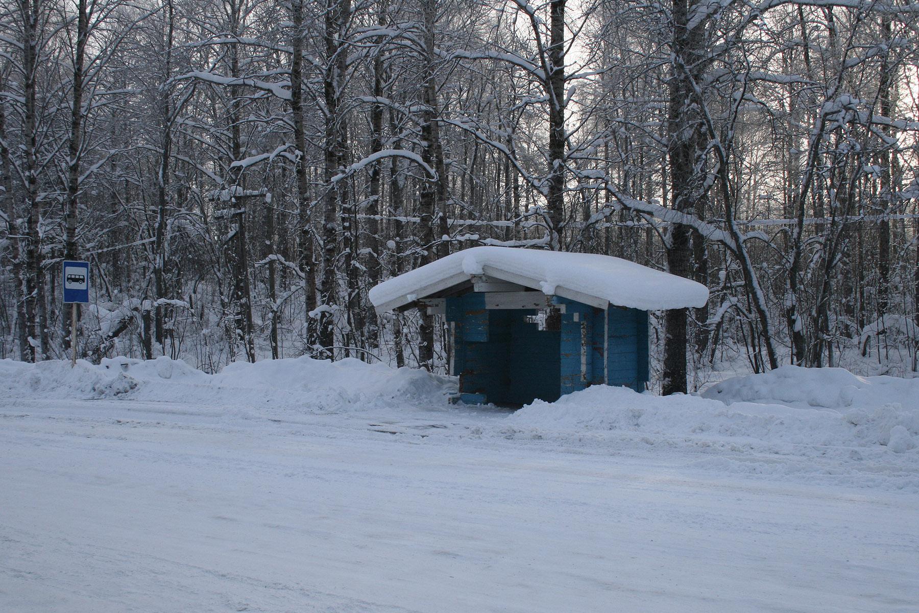 Bus stop Utuki in Karelia at winter.jpg