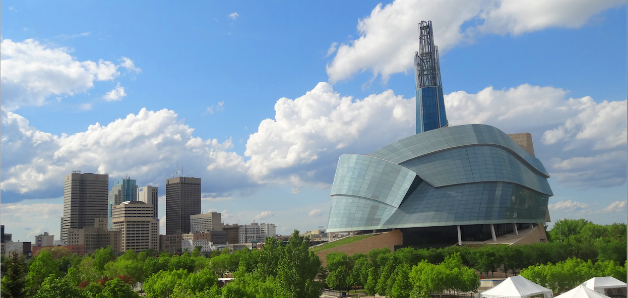 Canadian Museum of Human Rights near the forks in Winnipeg