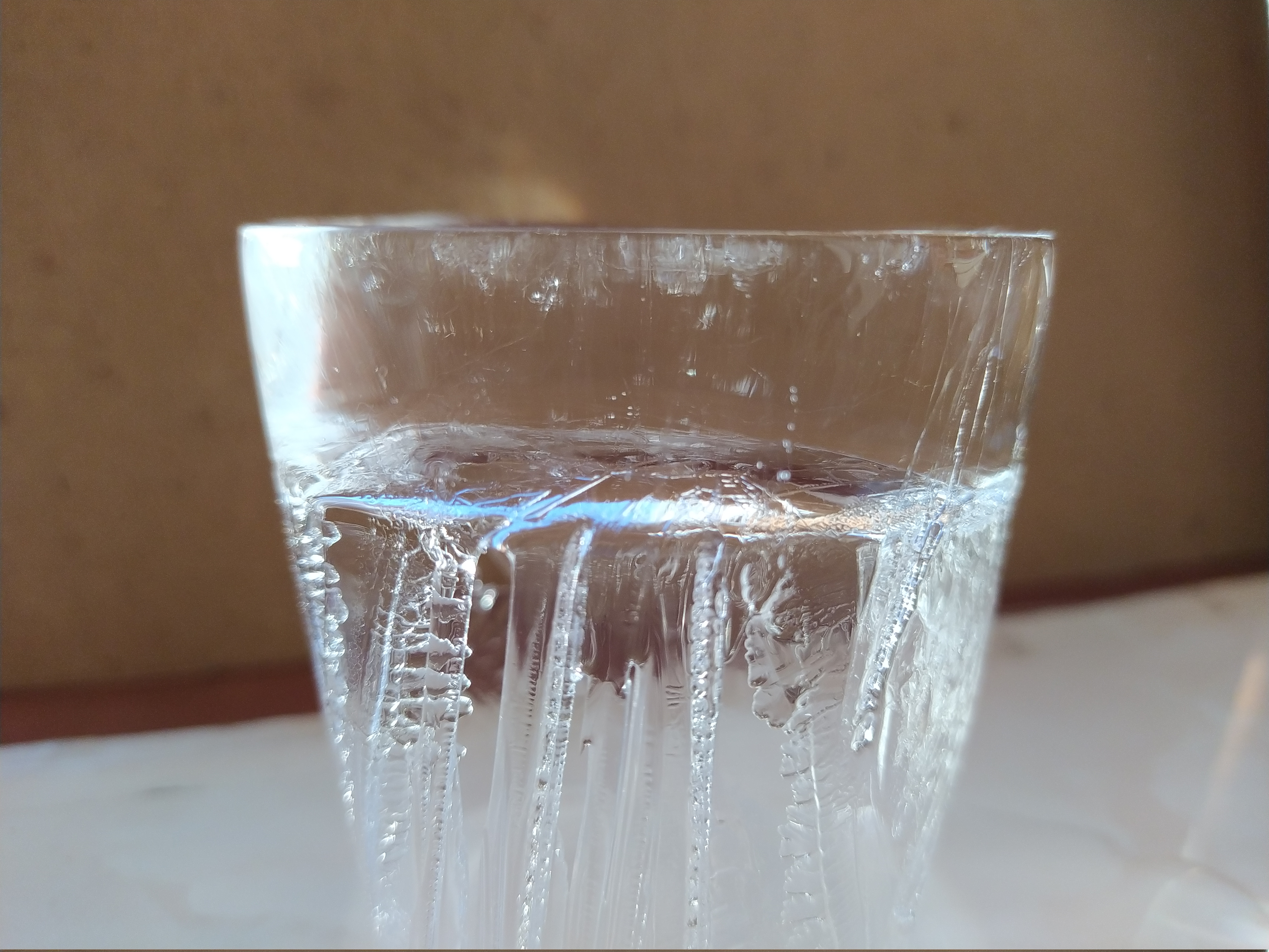 Clear ice made from my ice tray