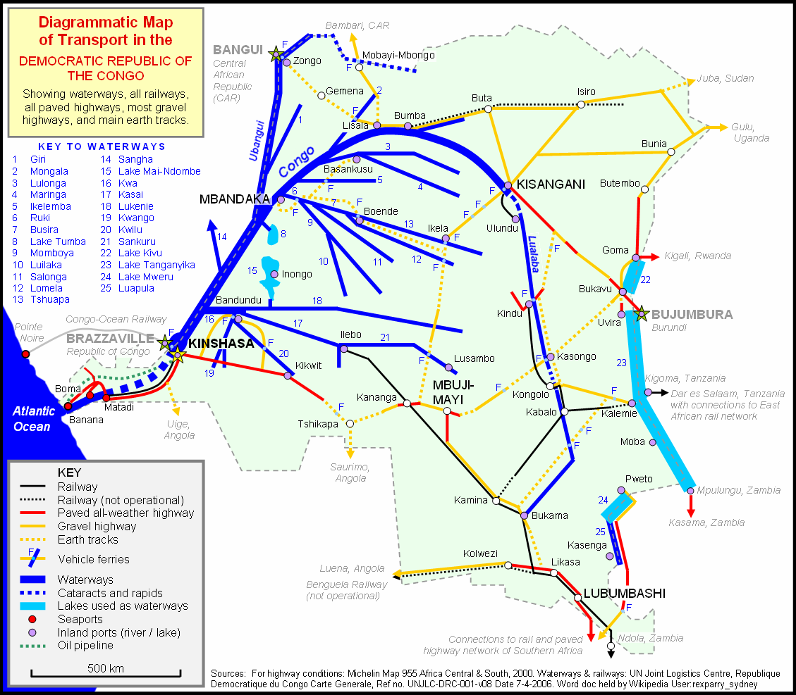 Transport In The Democratic Republic Of The Congo Wikipedia - Angola road map