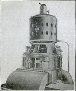 2000 KW Curtis steam turbine circa 1905. - Steam turbine
