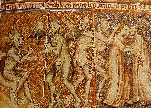 Devils Matfre Ermengau Breviari damor 1288