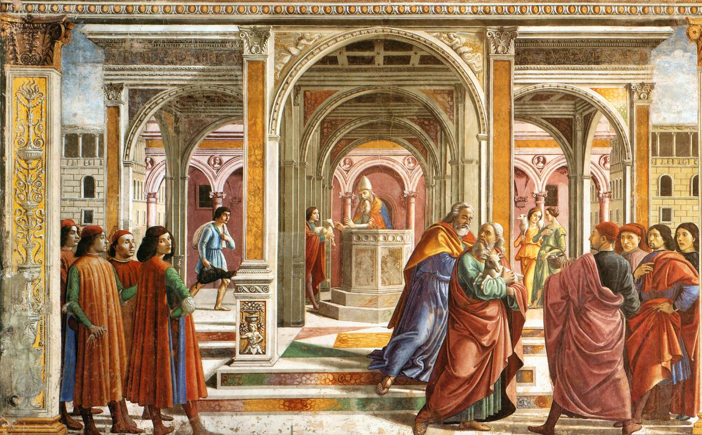 File domenico ghirlandaio expulsion of joachim from the for Architecture quattrocento