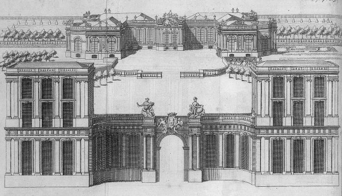 File drawing of the palais bourbon - Hotel du palais bourbon ...