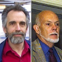 K. Eric Drexler (left) and Richard E. Smalley (right)