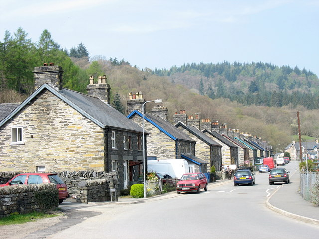 Edwardian stone-built semis in Pentre Du - geograph.org.uk - 402446