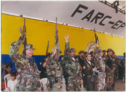 FARC commanders during the Caguan peace talks (1998-2002).jpg