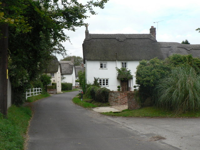 Farnham, thatches aplenty - geograph.org.uk - 953786