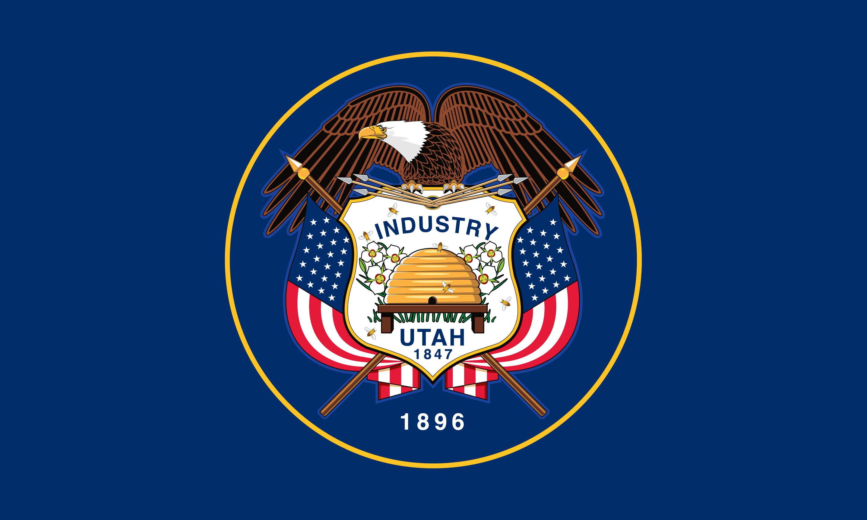 Flag of Utah (February 16, 2011)[10][11][12][13]