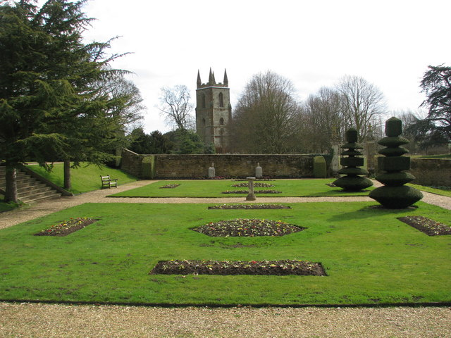Garden terrace of Canons Ashby House - geograph.org.uk - 1768701