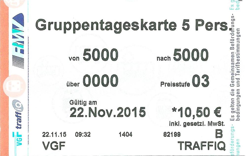 Rmv Ticket Frankfurt