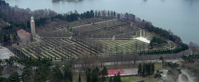La parte militar del cementerio de Heitaniemi