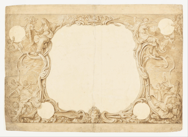 File:Hubert-Francois Gravelot - Design for an Ornamental ...