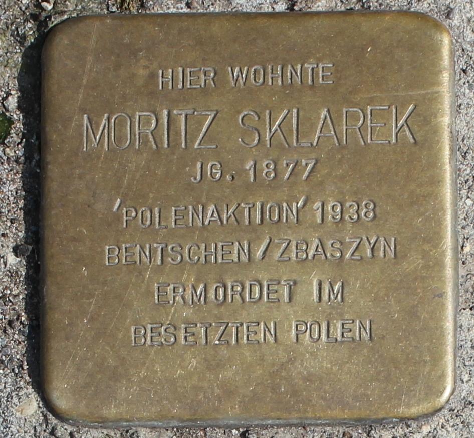 Stolperstein für Moritz Sklarek