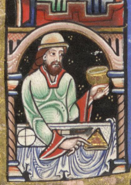 Hunterian Psalter c. 1170 feasting