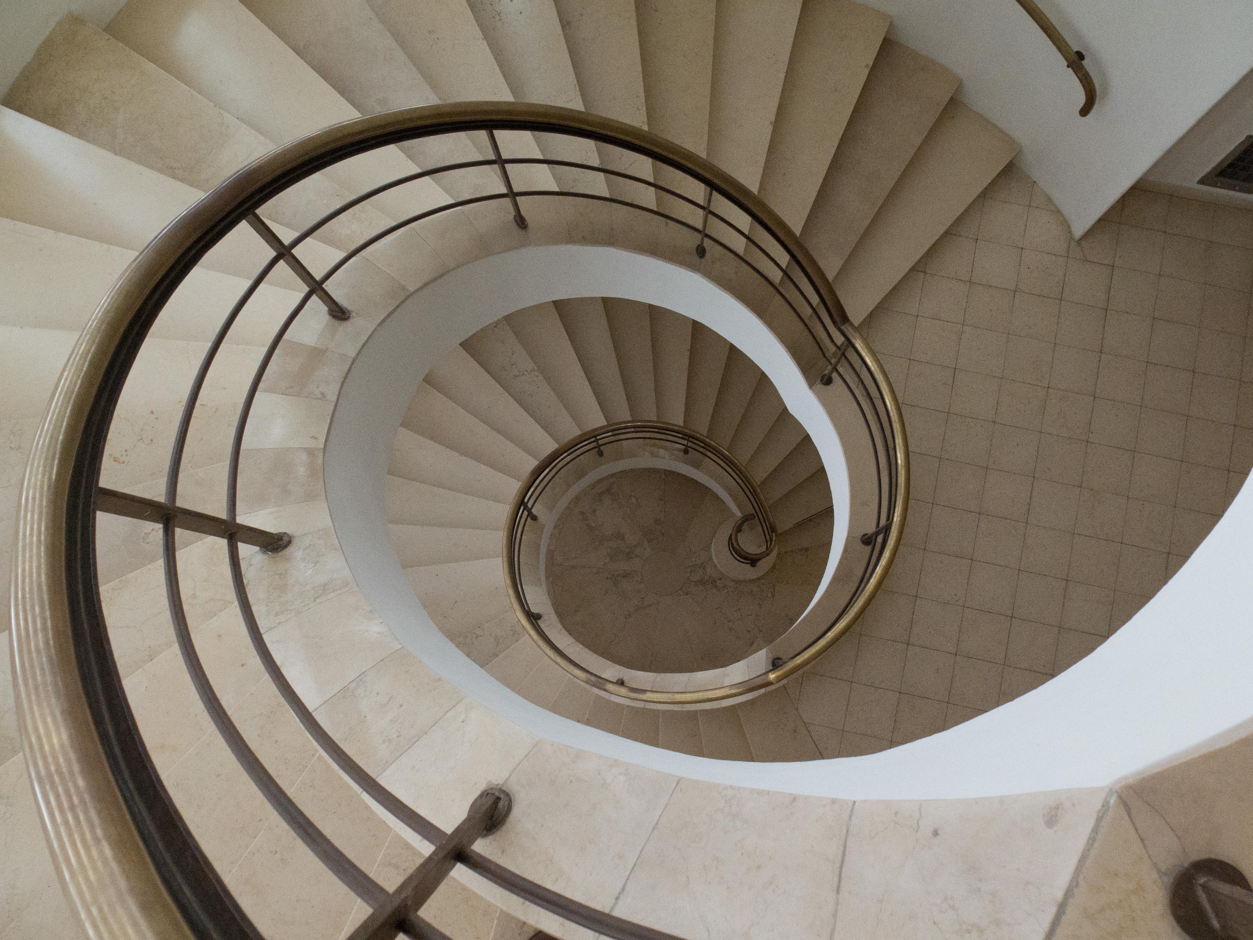 Amazing File:Interior View Down Spiral Staircase Tower Beit Weizmann House