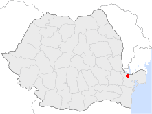 Location of Isaccea