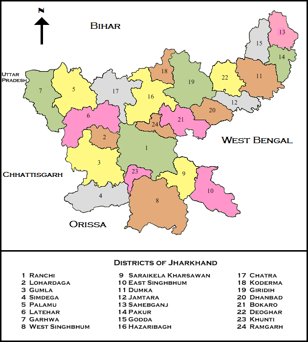 List of districts of Jharkhand  Wikipedia