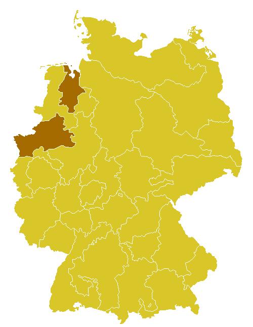 Karte Münsterland.Bistum Münster Wikipedia