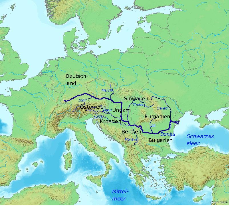 ThreeGorges OneWuhan Karte_Donau