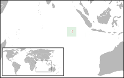 Location of Cocos (Keeling) Islands