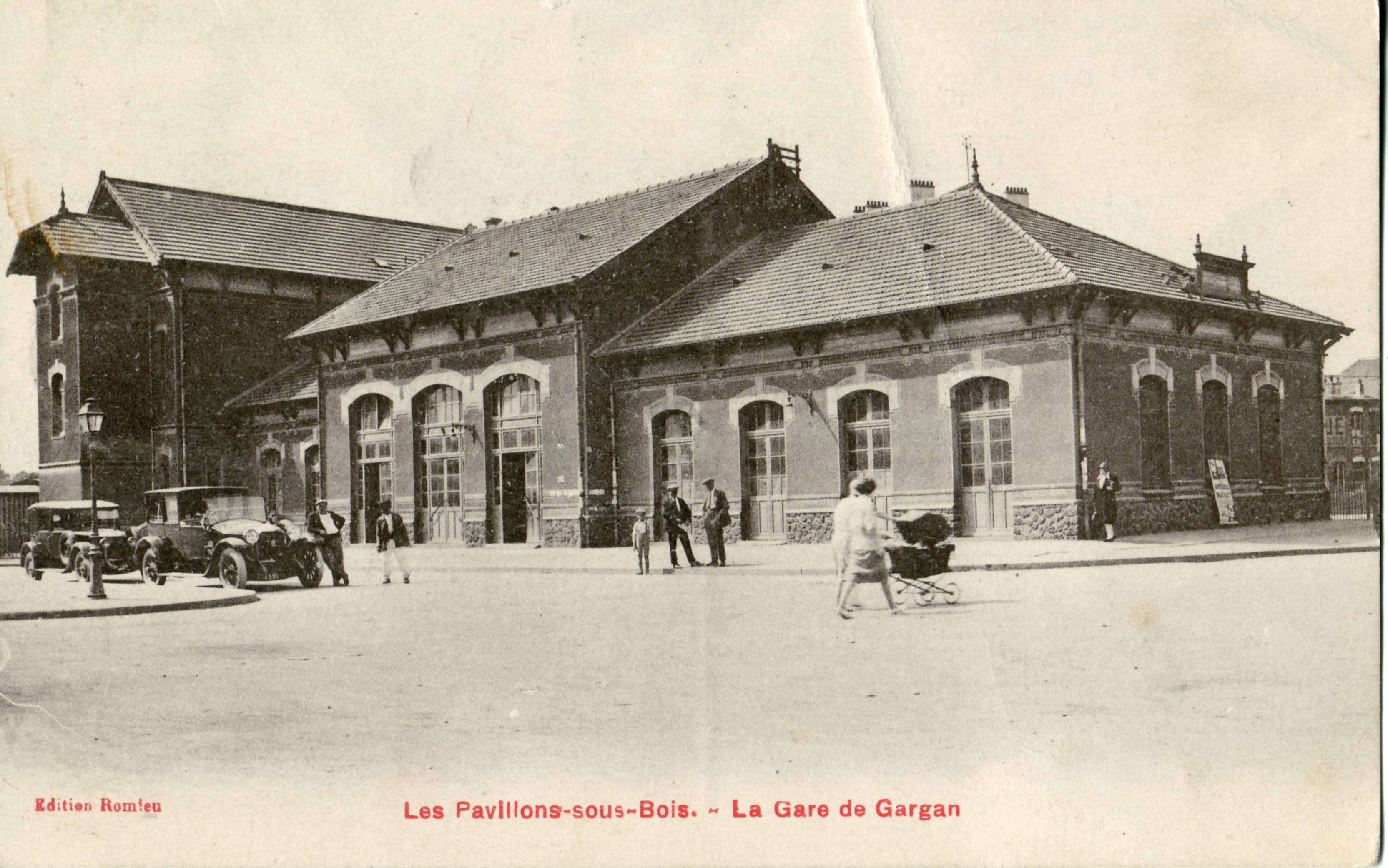 file les pavillons sous bois la gare de gargan jpg wikimedia commons. Black Bedroom Furniture Sets. Home Design Ideas