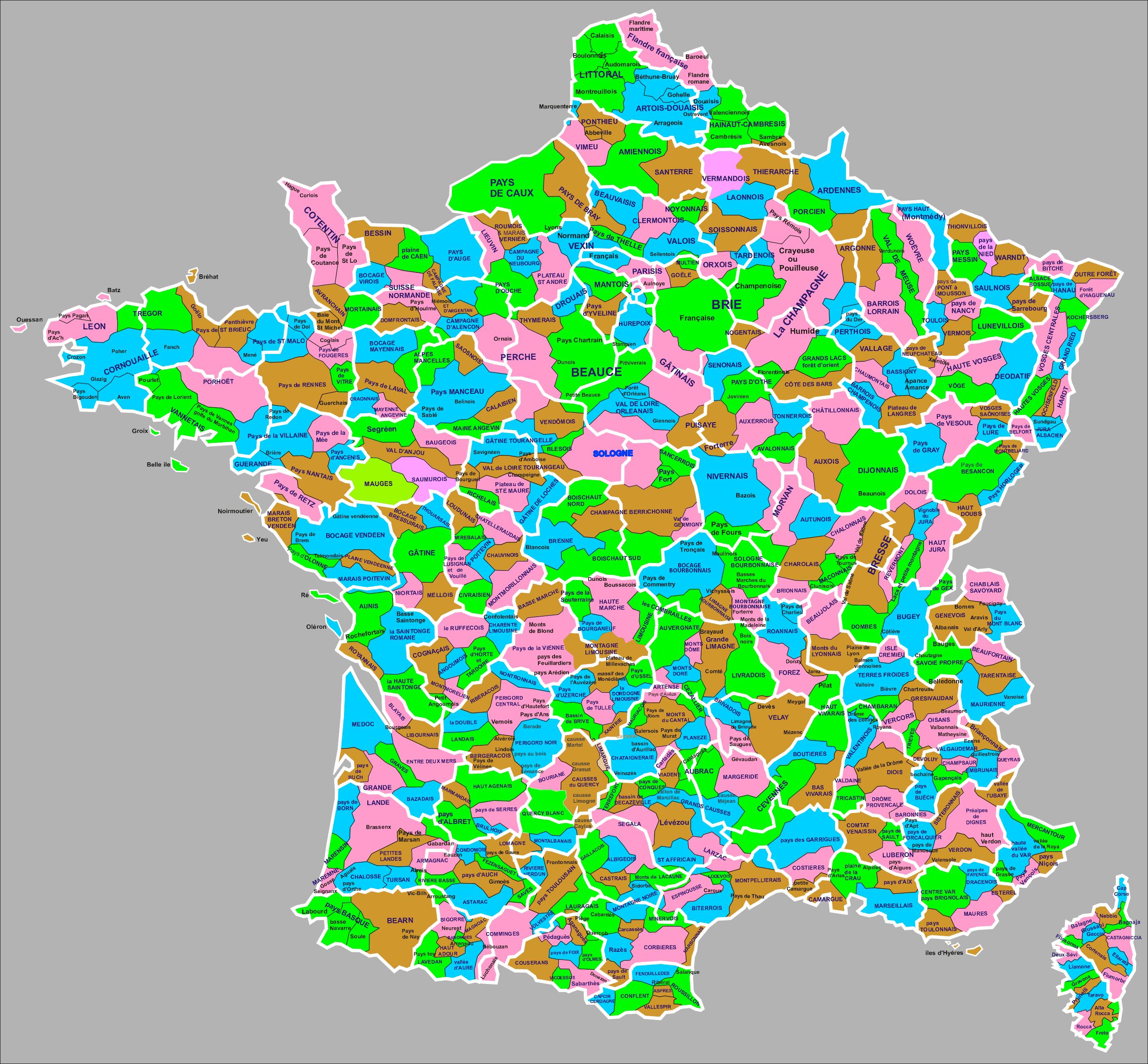 File Les Regions Naturelles De France Jpg Wikimedia Commons