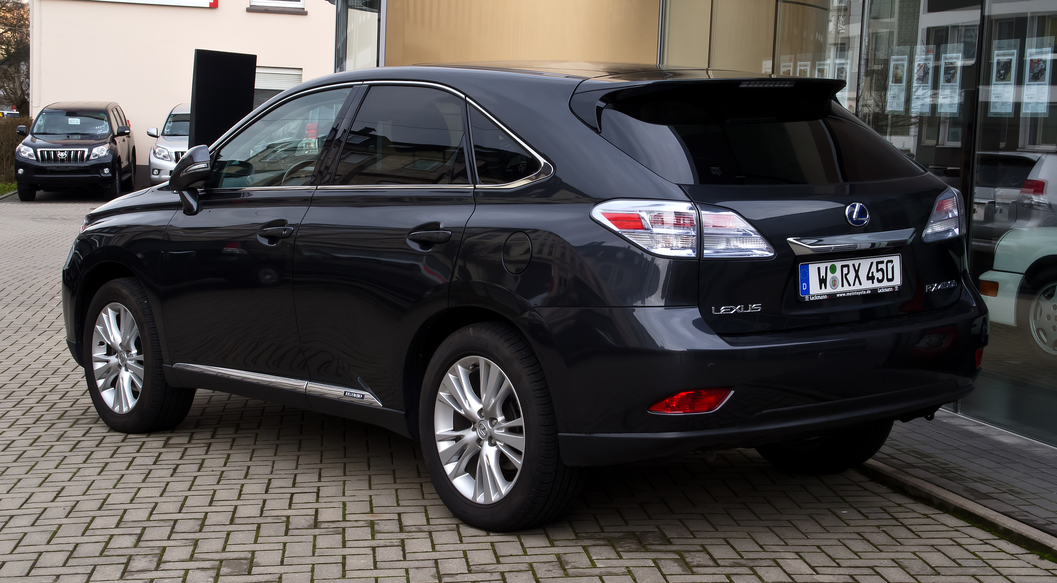file lexus rx 450h iii heckansicht 18 m rz 2012. Black Bedroom Furniture Sets. Home Design Ideas