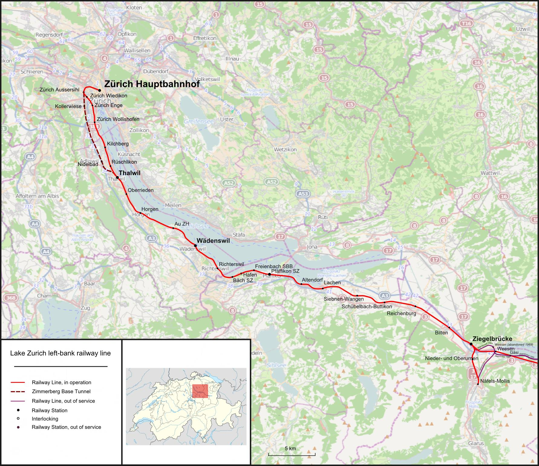 Spoorlijn Zürich