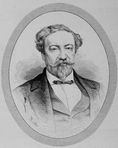 """Retrato de don Lorenzo Montúfar y Rivera, cuando era embajador de Guatemala en Madrid en 1876. Publciado por """"La Ilustración Española y Americana"""". Tomado de Wikimedia Commons."""