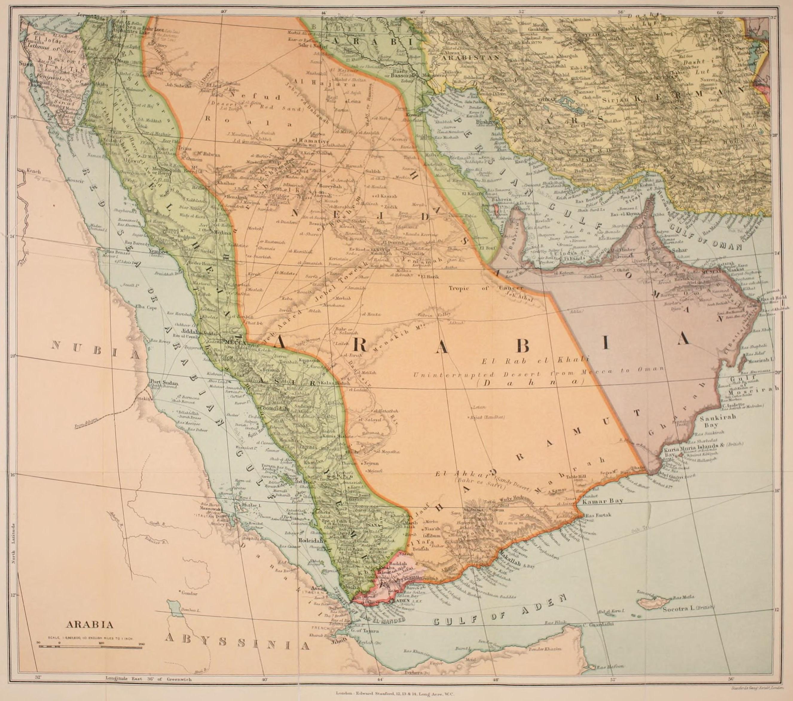 FileMap of Arabia early 20th centuryjpg Wikimedia Commons – Map of Arabia