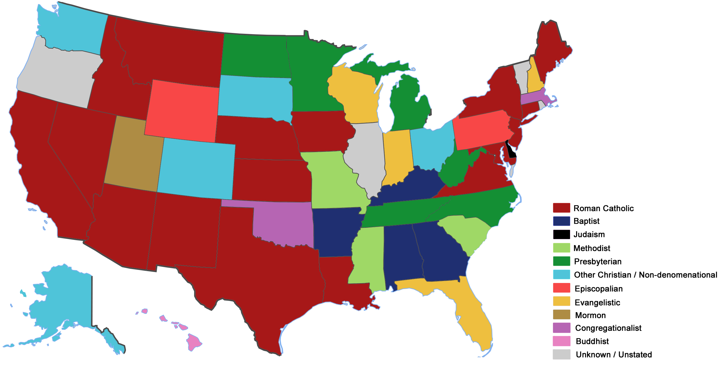 FileMap Of Governors In The United States By Religionpng - Usa religion map