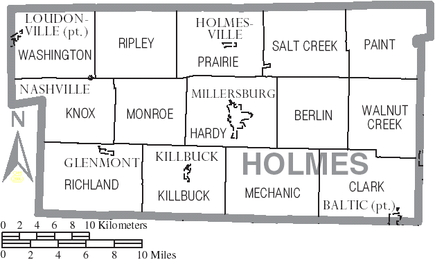 Holmes County Ohio Map File:Map of Holmes County Ohio With Municipal and Township Labels