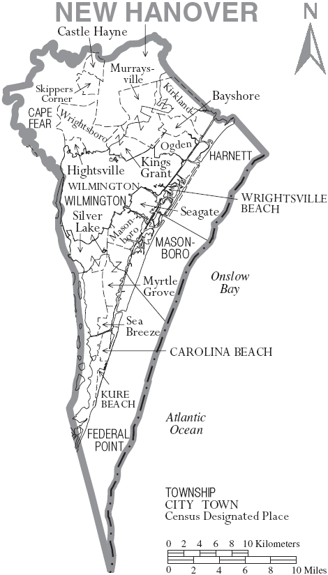New Hanover County Maps And Deeds - County maps of nc
