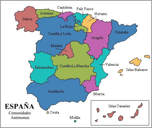 mapa espanha asturias Archivo:Mapa Espanha CC AA.png   Wikipedia, la enciclopedia libre mapa espanha asturias