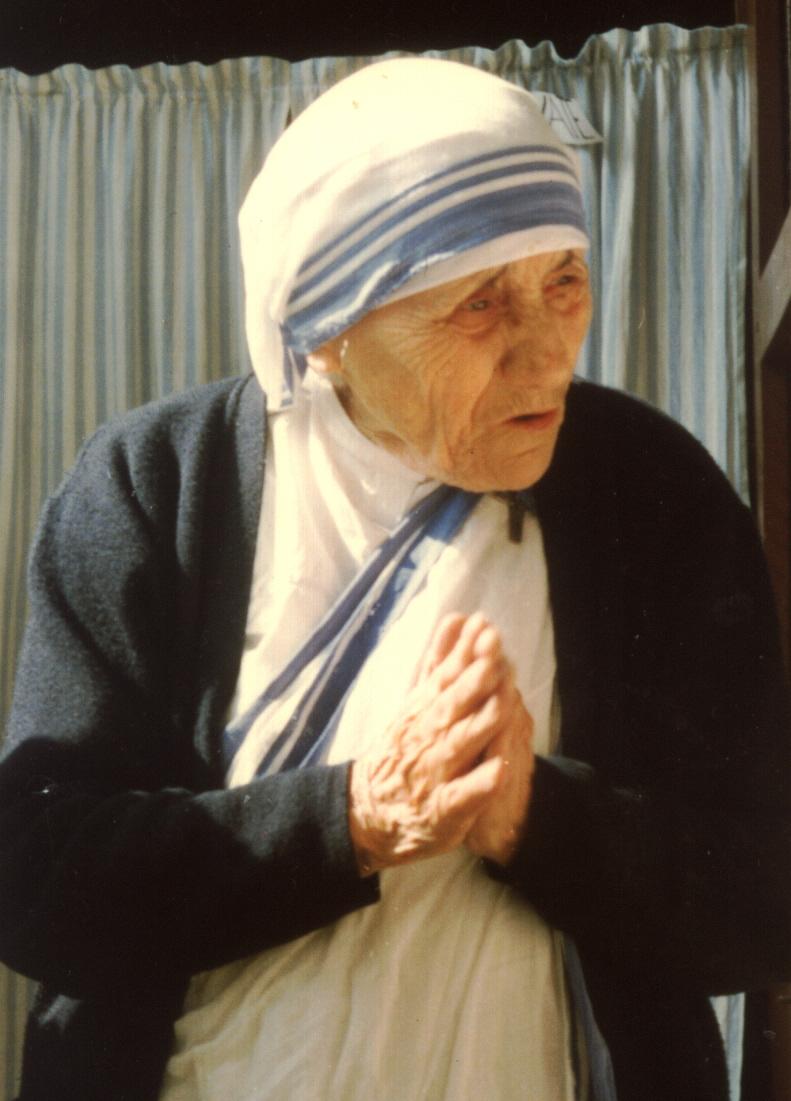Nella foto: Santa Madre Teresa di Calcutta