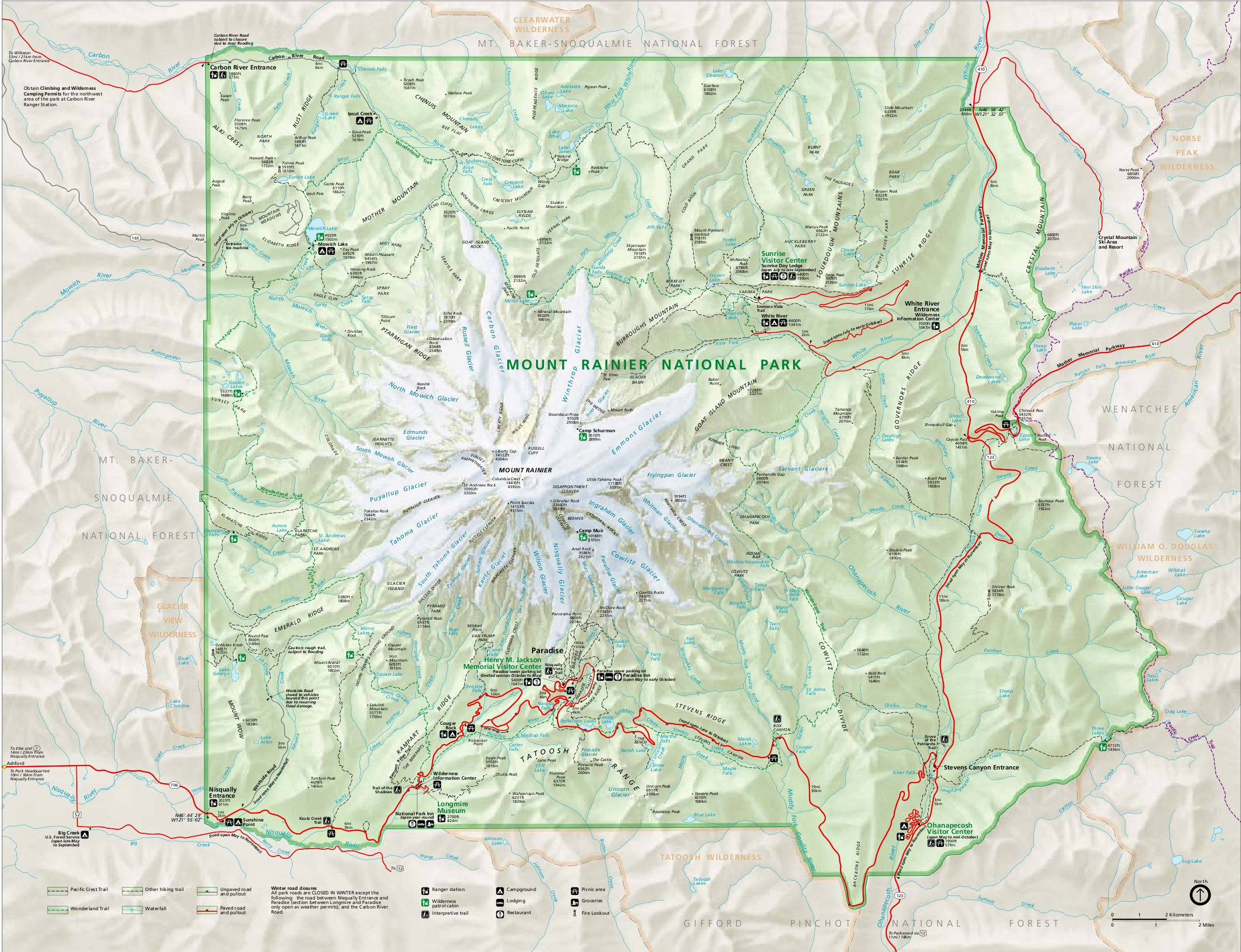File Mount Rainier National Park map en Wikimedia mons