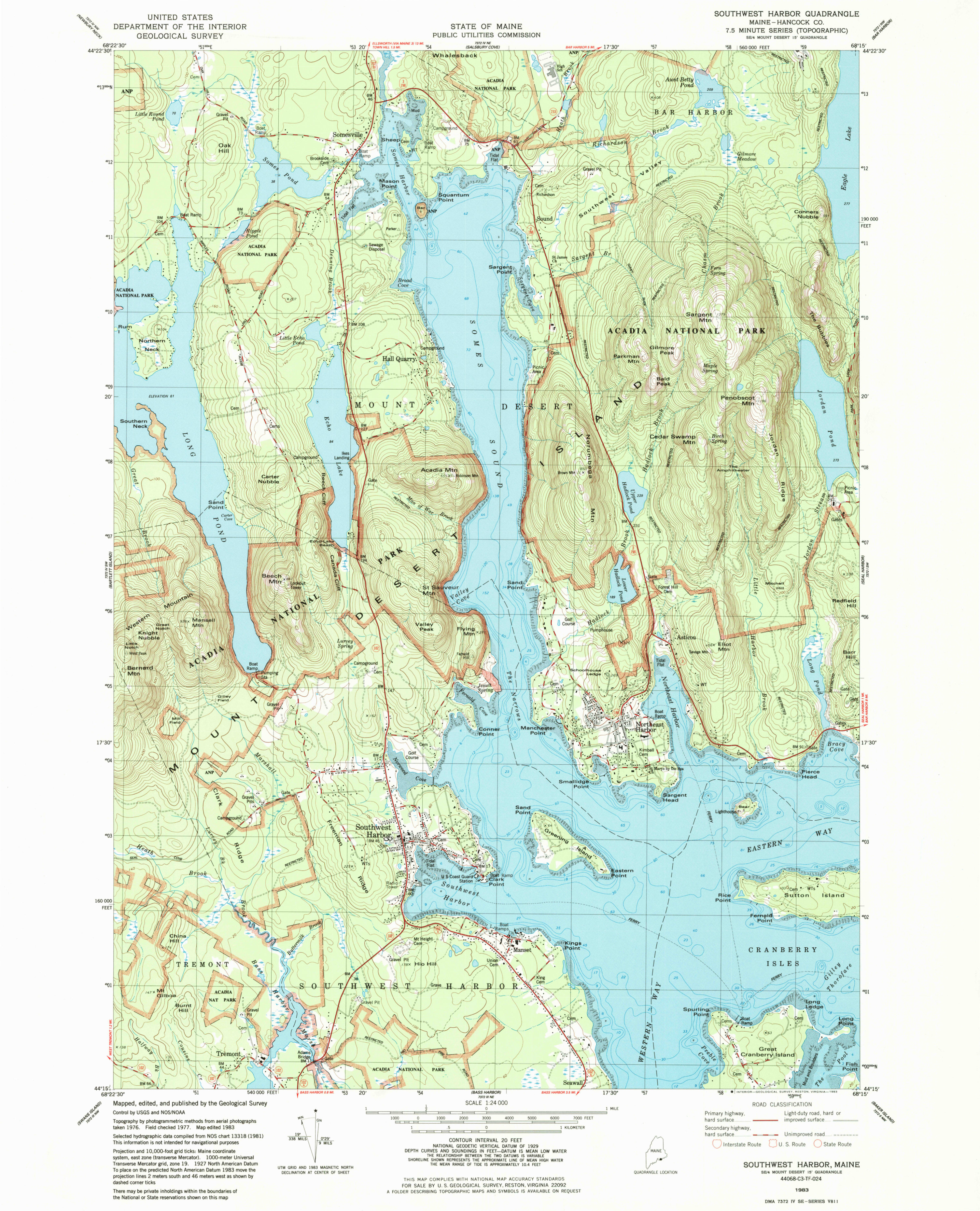 Topo Map Of Maine.File Nps Acadia West Topo Map Jpg Wikimedia Commons