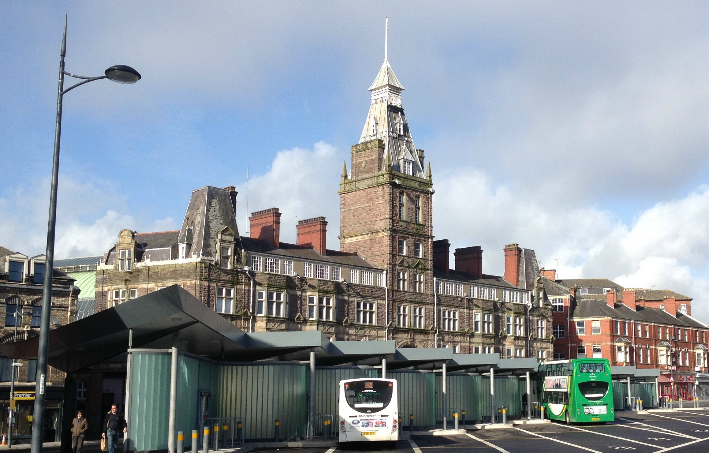 Newport central station