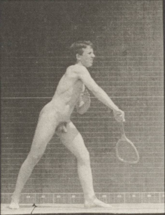 Nude male squash players