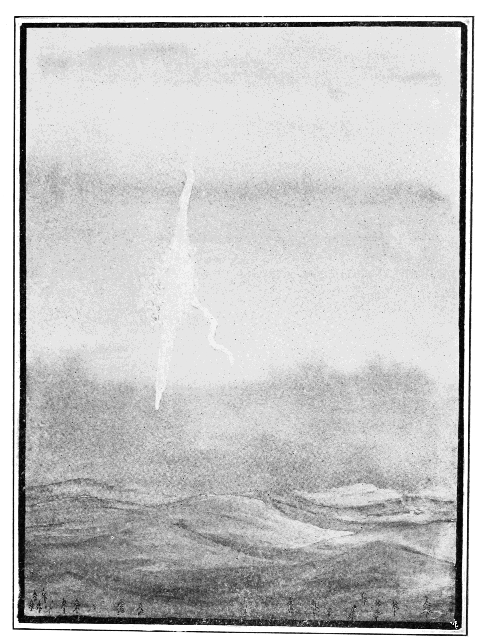 PSM V79 D201 Daylight train of a detonating meteor by lick observatory jul 26 1896.png