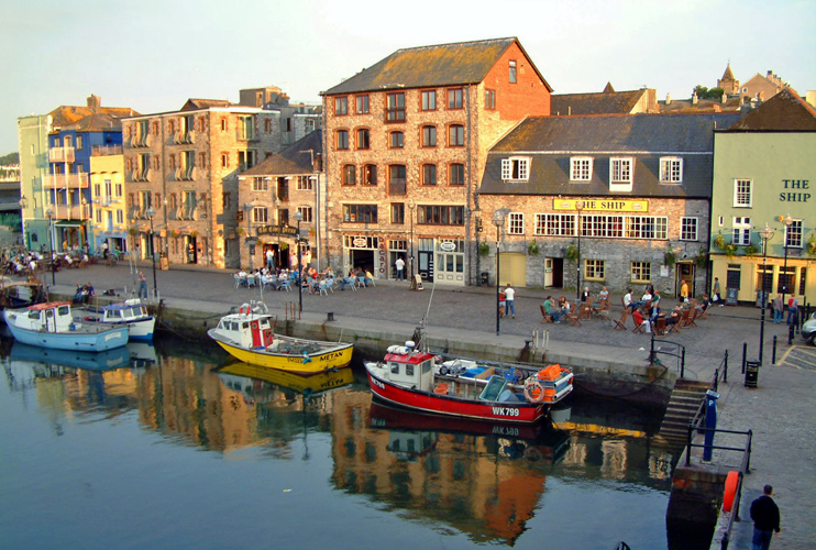 The Barbican quayside, Plymouth