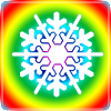 Rainbow outide snowflake.png