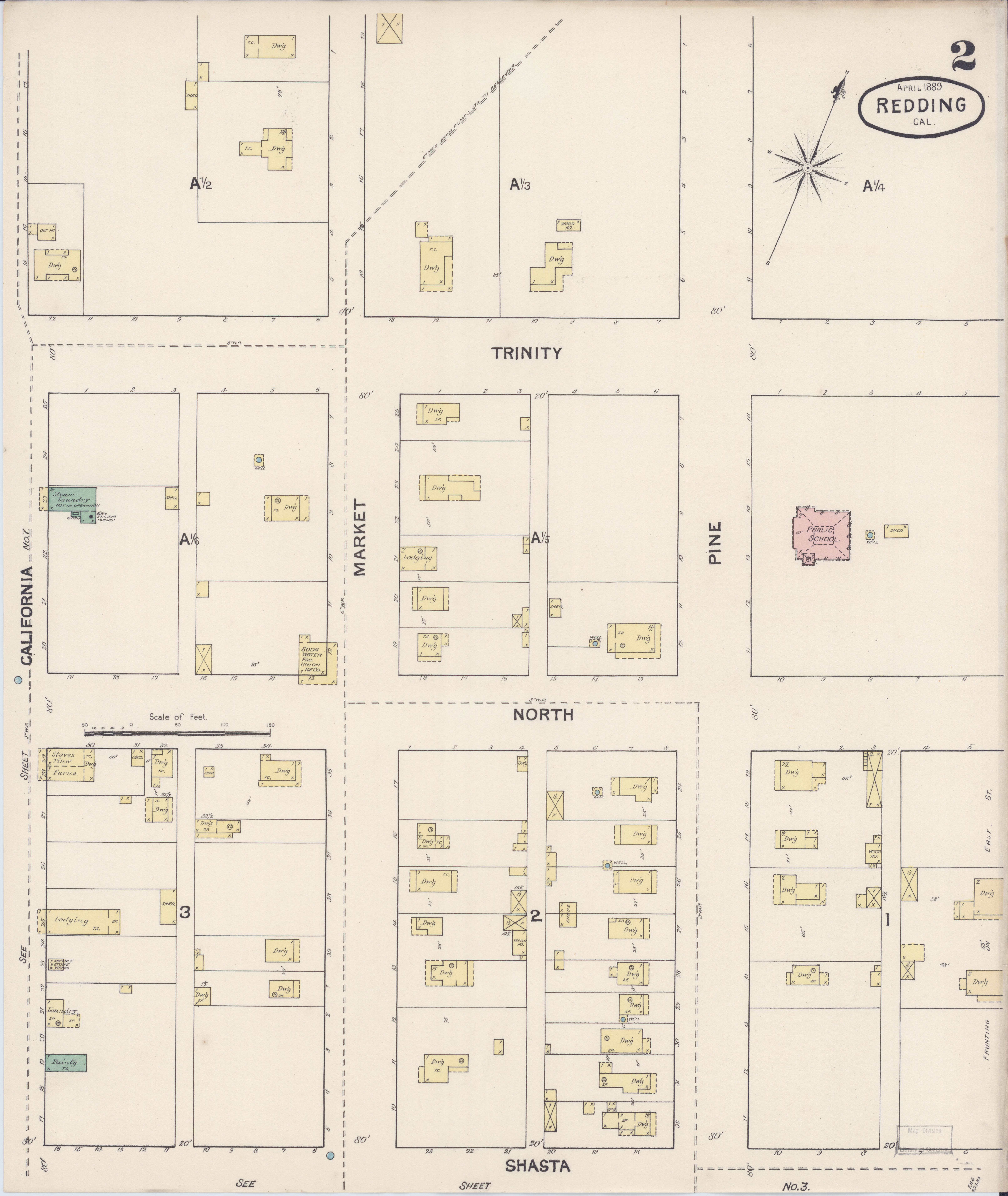 File Sanborn Fire Insurance Map From Redding Shasta County