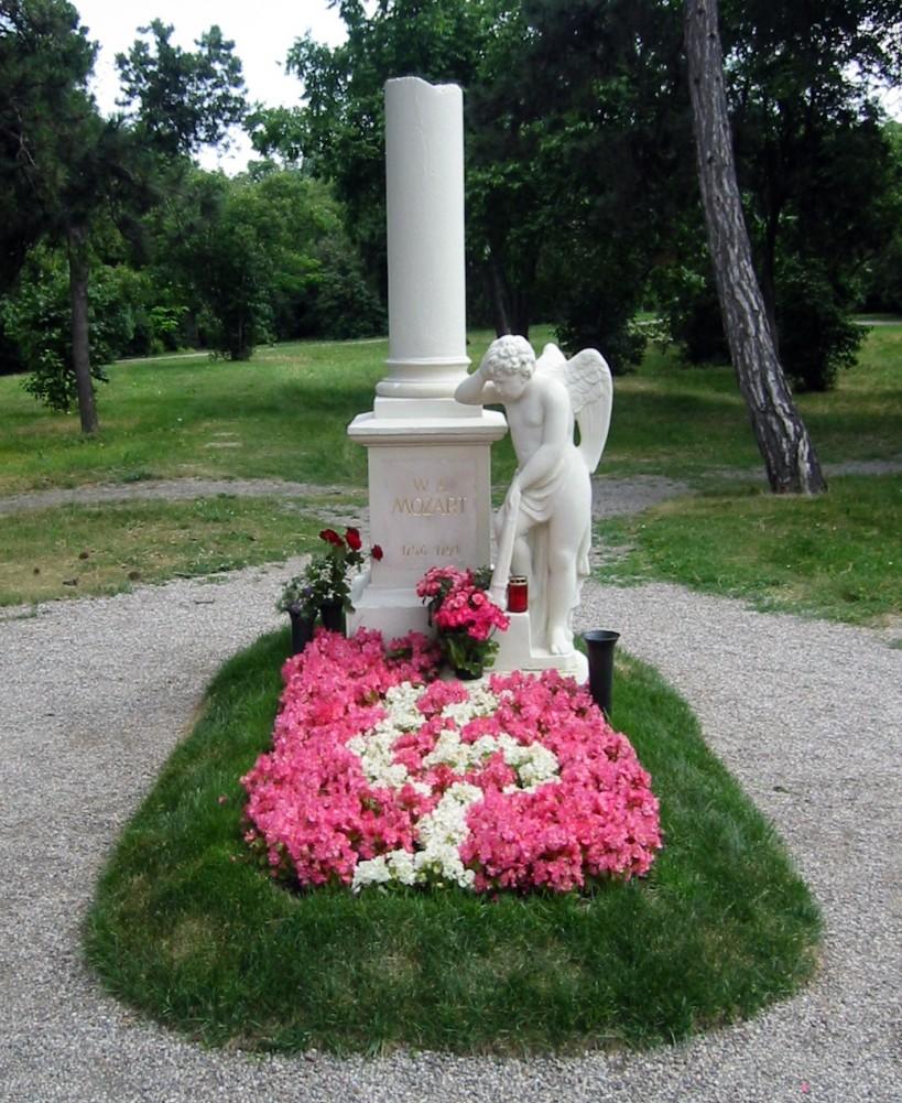 Cenotafio de Mozart en el cementerio de St. Marx en Viena.
