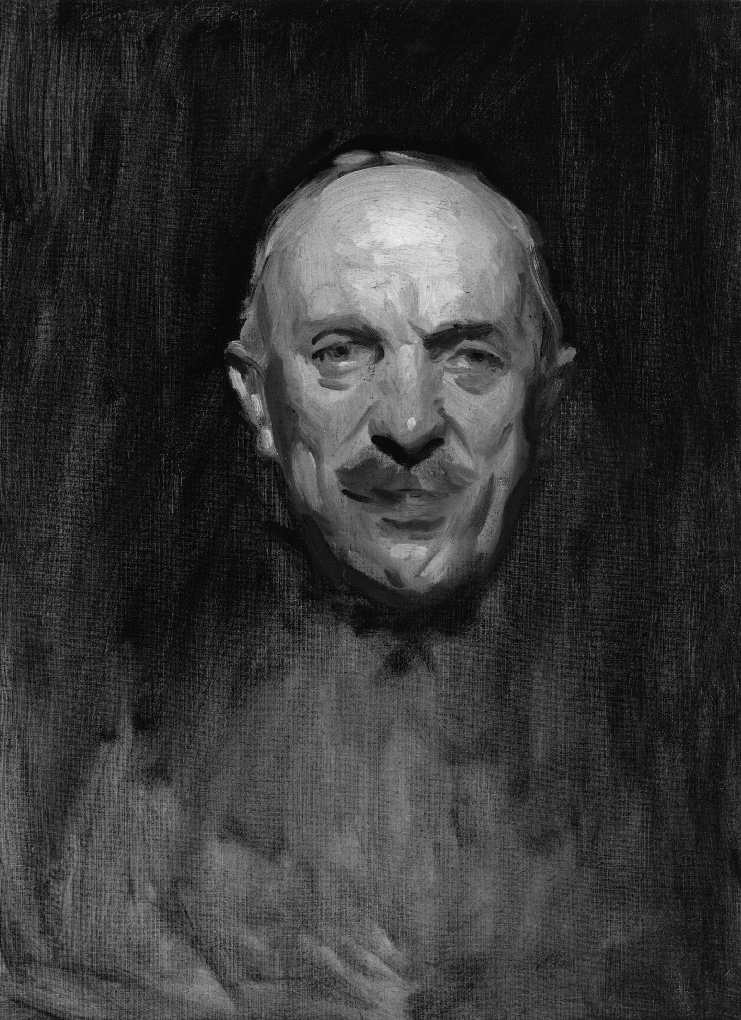 Black And White Oil Painting Portrait