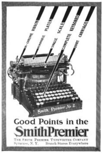 English: Smith Premier Typewriter Co. of Syrac...