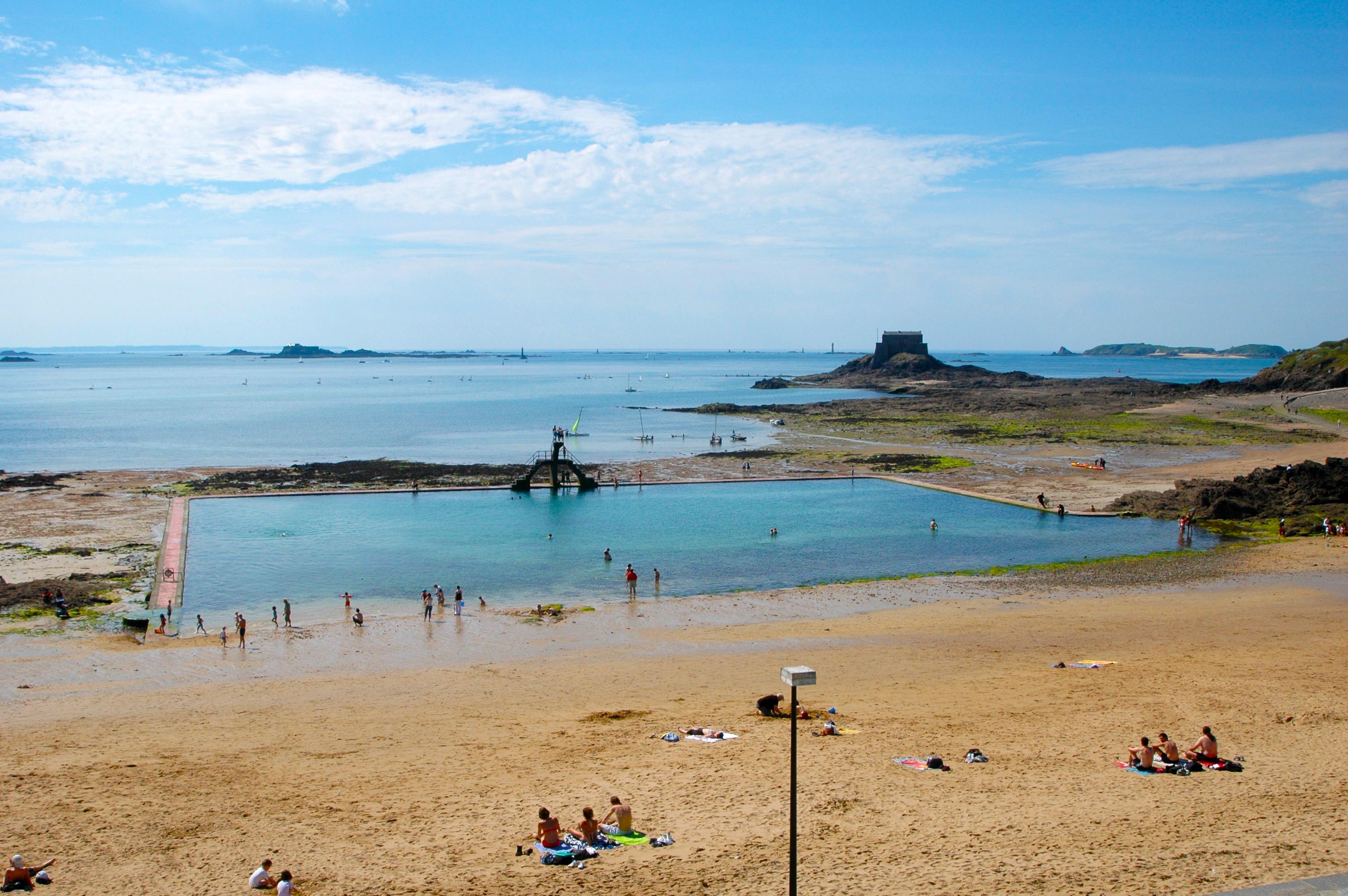 File St Malo Beach Sea Water Swimming Pool Panoramio Jpg