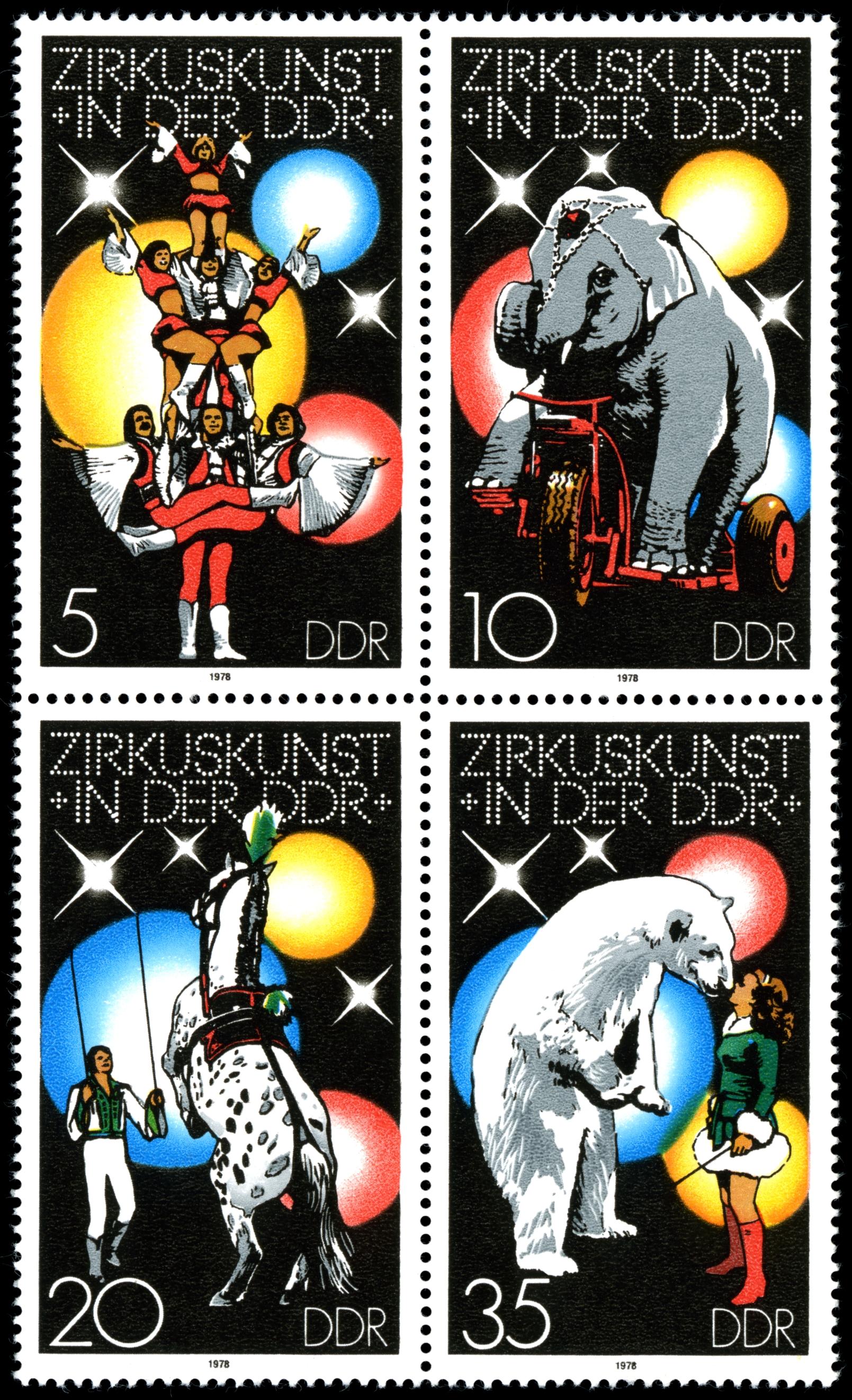 Zirkus – DDR-Briefmarkensatz